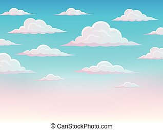 Pink sky theme background 1 - eps10 vector illustration.