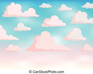 Pink sky theme background 2