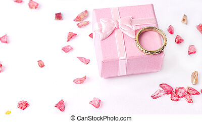 Pink small holiday box