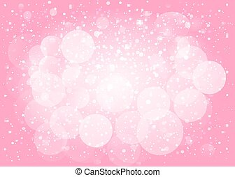Pink snow bokeh background. Vector EPS10.