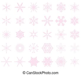 Pink Snowflakes Background