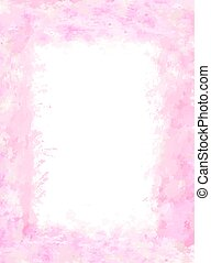 pink soft watercolor frame