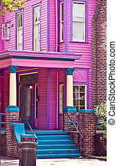 pink Southern Mansion