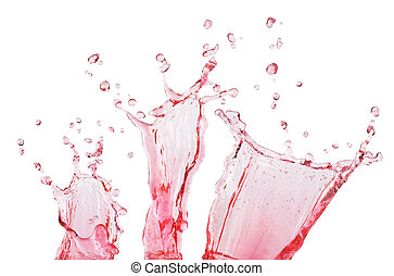 pink splash on white background