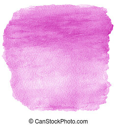 Pink spot, watercolor abstract hand painted textured...