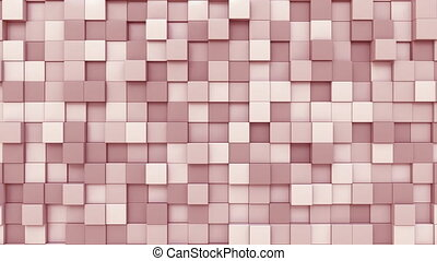 Pink square plates motion background