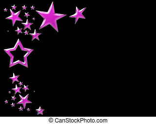 pink star background - pink stars on a black background