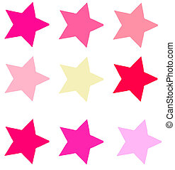Pink Star Shapes