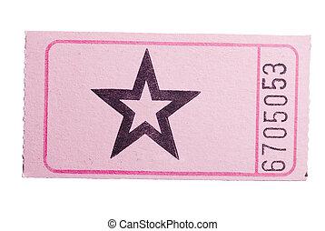 Pink star ticket