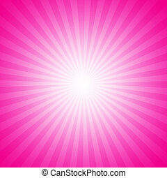 Pink starburst effect background