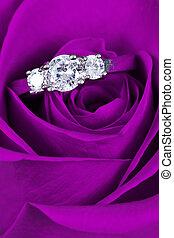 pink stieg, ring, verlobung