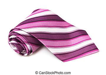 pink striped necktie