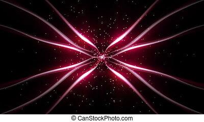 Pink stripes of moving lights