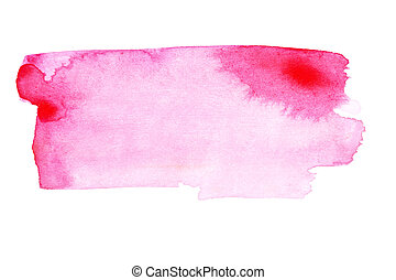 Pink strokes - Pink watercolor brush strokes - space for...