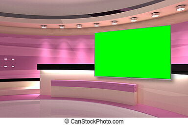 Pink Studio. Pink wall with light. Pink background. Pink ...