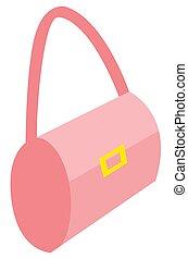 Pink Stylish Handbag of Woman, Female Accessories