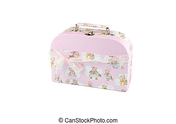 pink suitcase