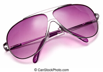 Pink Sunglasses - Pink sunglasses isolated on white.