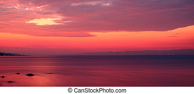 Pink Sunrise By The Seaside