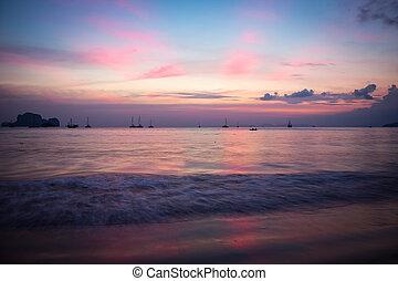 Pink Sunset in Thailand