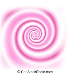 Double colored swirl - white and pink. For food design - yogurt, milk beverages etc. Abstract vector background.