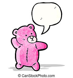 pink teddy bear cartoon