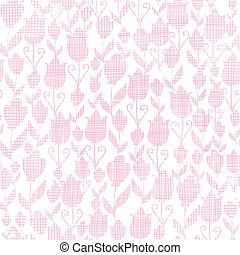 Pink textile tulips texture seamless pattern background