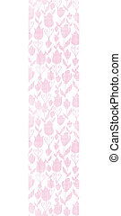 Pink textile tulips texture vertical seamless pattern background