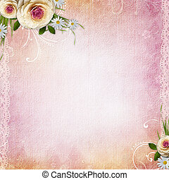 Pink Texture Background with roses - Pink Texture Background...
