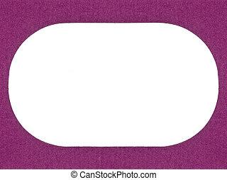 textured cardboard frame