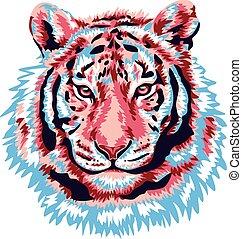 Pink tiger head