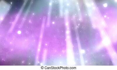 Pink to blue gray beams of light and particles looping animated background
