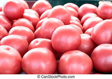 Pink tomatoes.