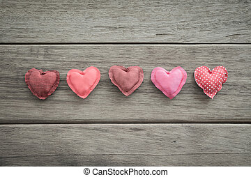 Pink tone handmade love sweet hearts for valentine's day