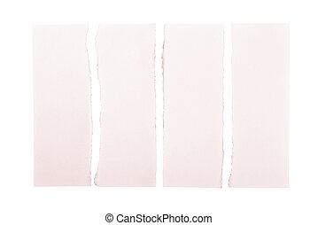 Pink Torn Paper Strips
