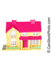 pink toy house