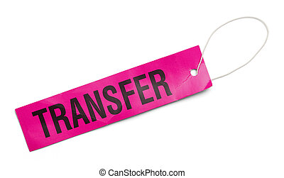 Pink Transfer Tag