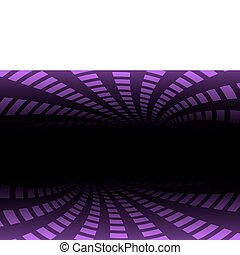 Pink tunnel abstract illustration
