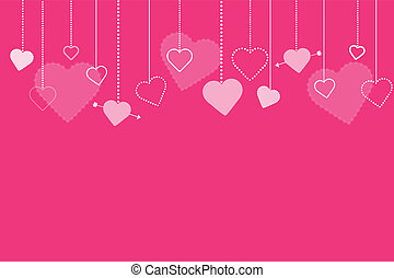 Image of a colorful pink Valentine hearts background.