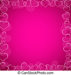 pink valentine's background with hearts