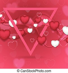 Pink Valentines Day abstract background