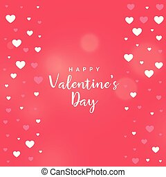 pink valentine's day heart vector background