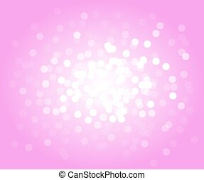 Pink vector bokeh background