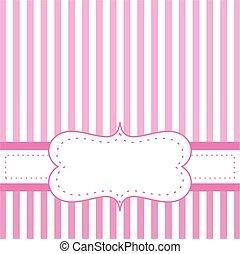 Pink vector card invitation