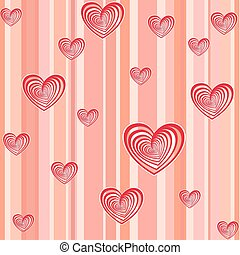 pink vector hearts background