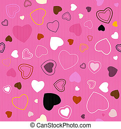 Pink Vector Seamless Hearts Pattern