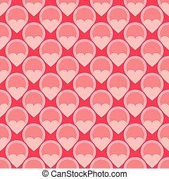Pink vector tile hearts background