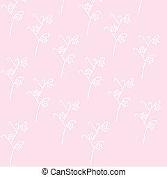 Pink vector wall-paper with a white flower