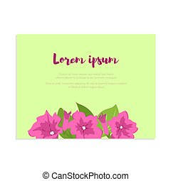 Pink vintage flowers in frame with sign for wedding invitation, marriage card, congratulation banner, advertise