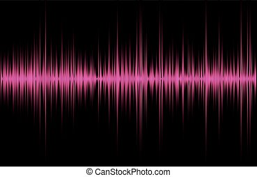 music sound waves - Pink violet red music sound waves for...